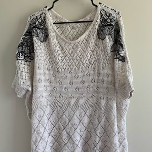 Anthropologie Knitted & Knotted 3/4 sleeve sweater